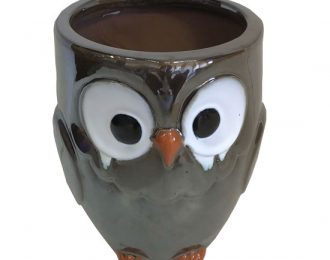 Shiny Owl Planter