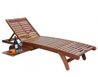 ARMLESS SUNLOUNGER – CURVED SEAT LONG