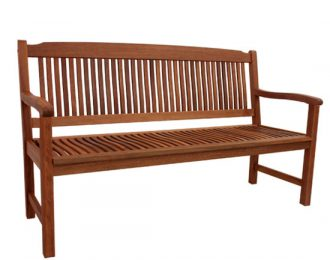 STRAIGHT BACK BENCH 3 SEATER