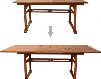 BUTTERFLY RECTANGULAR TABLE